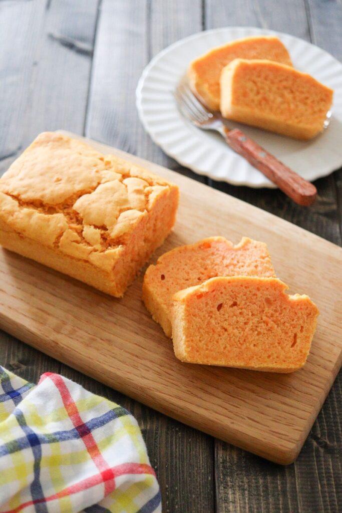 人参 米粉 パウンドケーキ 卵なし バターなし 油なし ノンオイル 幼児食
