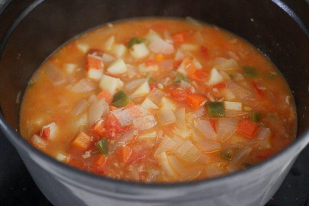 ミネストローネ 重ね煮 レシピ 塩