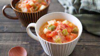 トマト缶なし ミネストローネ トマト じゃがいも 玉ねぎ 幼児食 コンソメなし レシピ