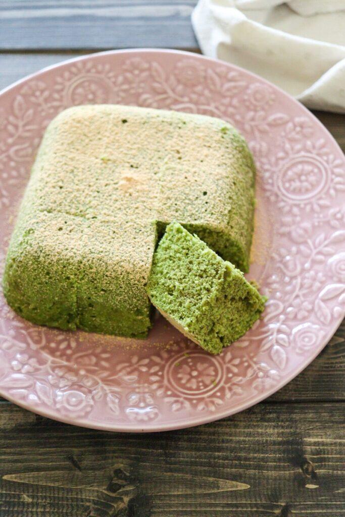抹茶ケーキ ホットケーキミックス 卵なし バターなし 油なし 電子レンジ レシピ