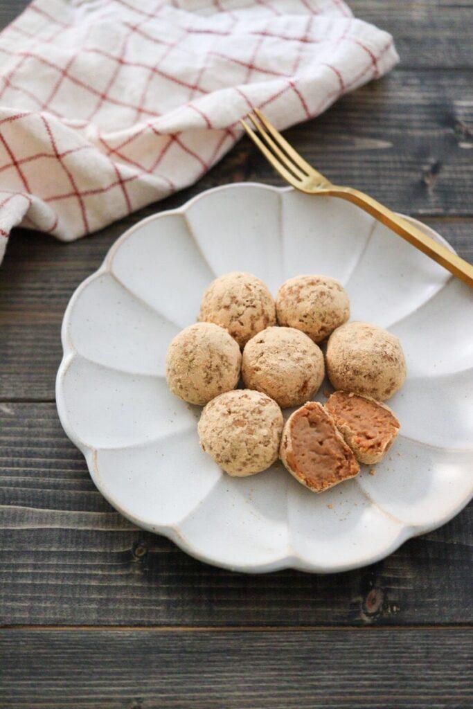 豆腐きな粉トリュフ 生クリームなし チョコレートなし 豆腐トリュフ 豆腐スイーツ