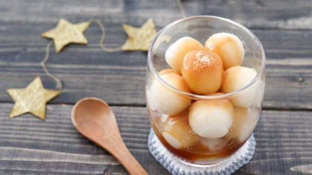 おからパウダー 片栗粉 白玉団子 パフェ レシピ