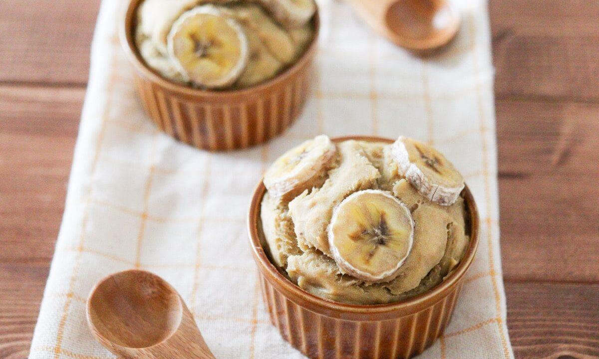 大豆粉 バナナ マフィン ケーキ 卵なし 小麦粉なし 砂糖なし バターなし レシピ