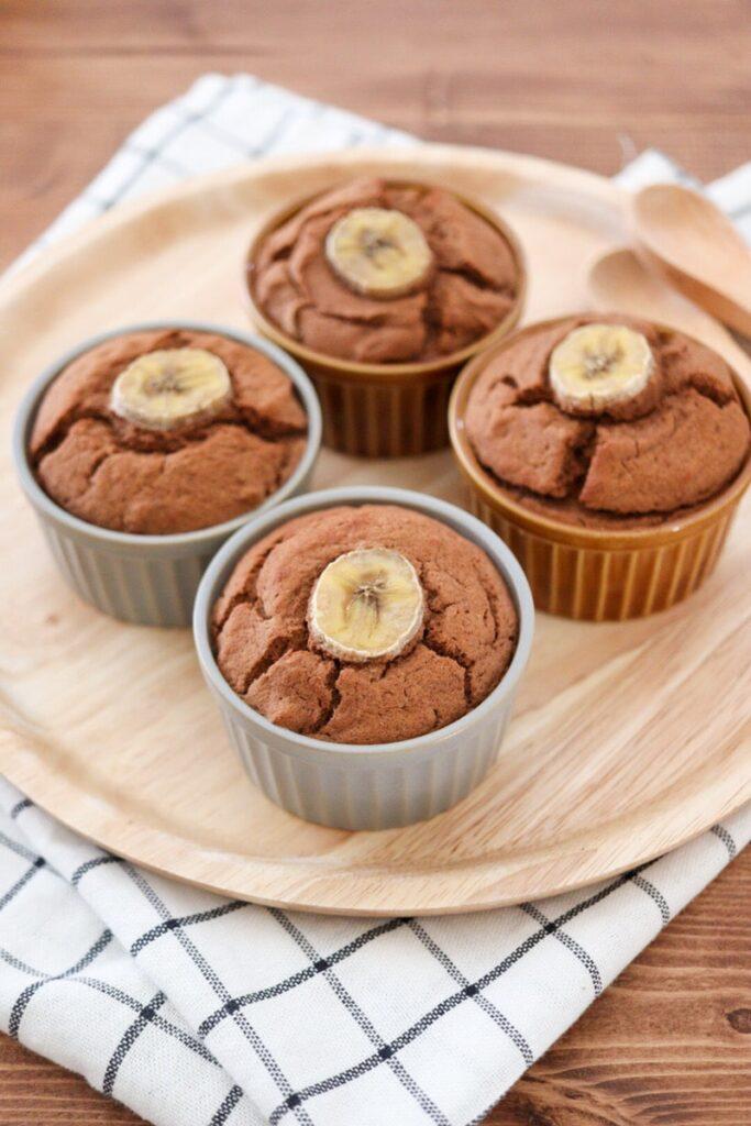 おから バナナ マフィン ケーキ バターなし 砂糖なし 油なし 小麦粉なし レシピ
