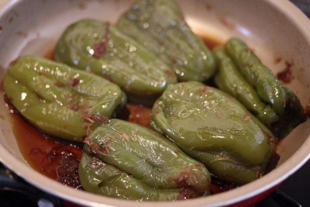 ピーマン 丸ごと おかか煮 野菜レシピ 鰹節
