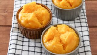 かぼちゃ 米粉 蒸しパン 卵なし 油なし 豆乳なし 幼児食