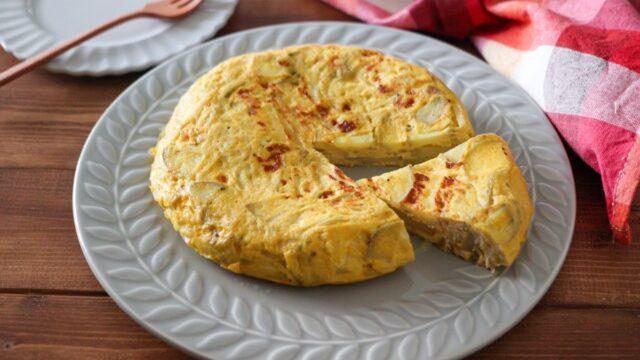 新じゃがいも オープンオムレツ レシピ トルティージャ風 フライパン