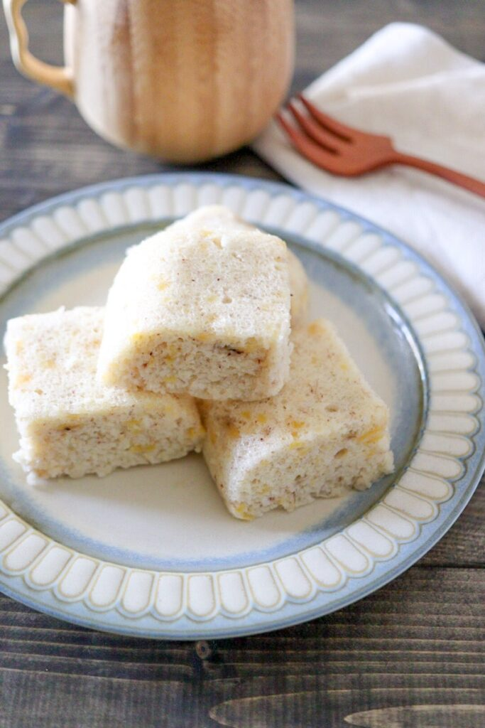 米粉 バナナ 蒸しパン レシピ 電子レンジ 幼児食 離乳食 簡単 卵なし 油なし 砂糖なし
