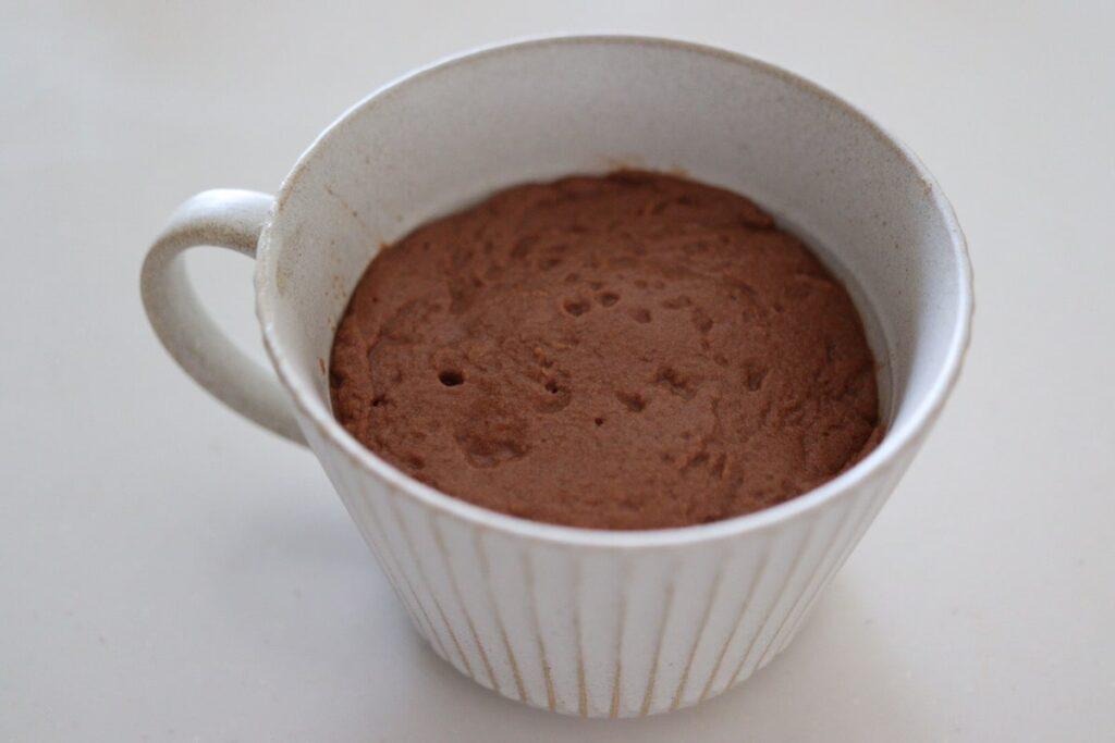 おからパウダー サイリウム オオバコ ケーキ マグカップ 電子レンジ