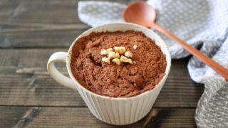 おからケーキ チョコケーキ サイリウム オオバコ マグカップ レシピ