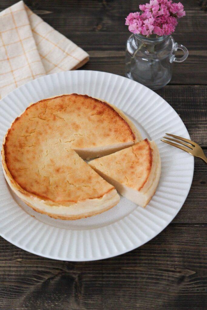チーズケーキ チーズなし 卵なし 小麦粉なし 米粉 レシピ 砂糖なし