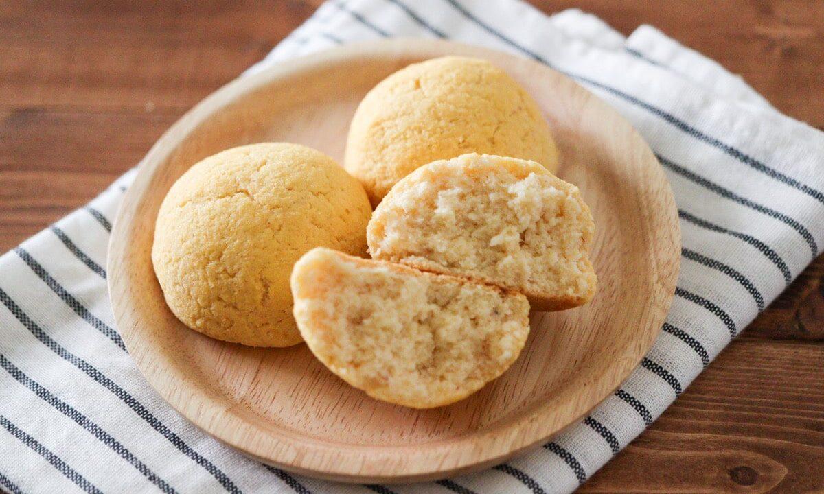 おからパン レシピ 生おから 小麦粉不使用 イースト不使用 油なし オオバコなし