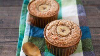 バナナ オートミール ケーキ 砂糖なし 卵なし 小麦粉なし 粉にしない 油なし