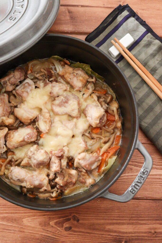 鶏肉 重ね煮 キャベツ 子ども ストウブ レシピ