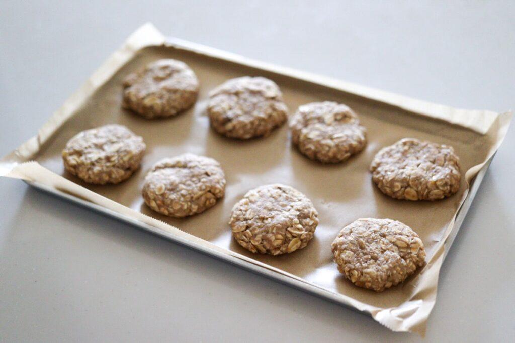 バナナ おからクッキー オートミール クッキー トースター