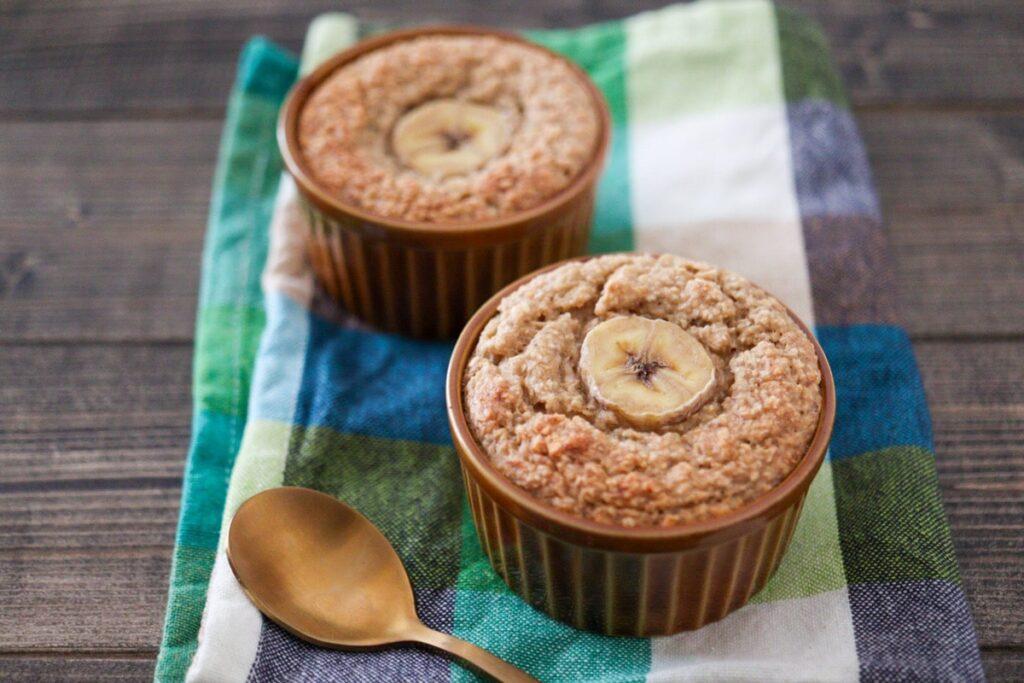バナナオートミールケーキ 砂糖なし 卵なし 小麦粉なし 粉にしない 油なし