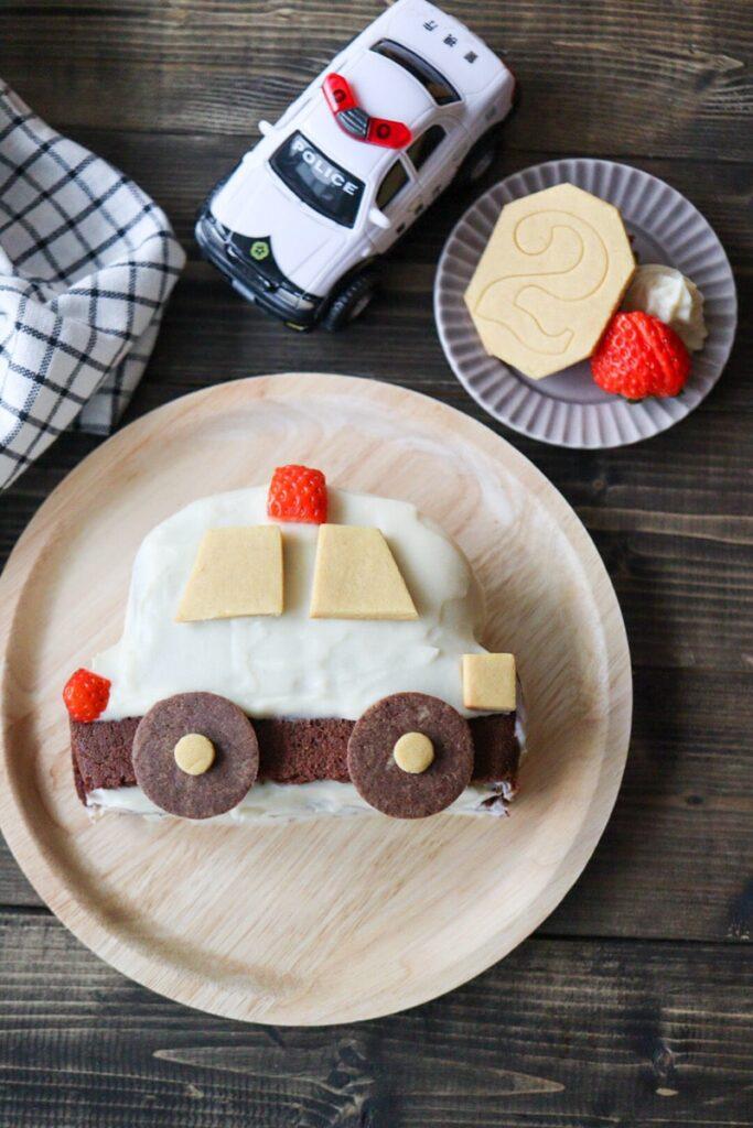 パトカーケーキ 車 男の子 ケーキ 誕生日