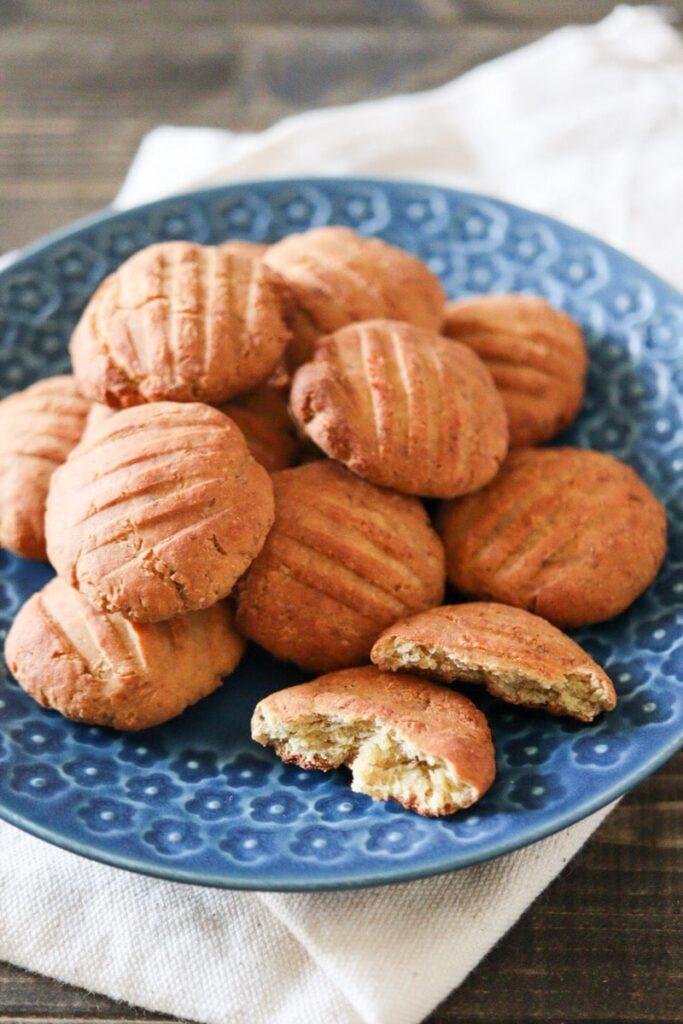 バナナ 大豆粉 クッキー 卵なし 小麦粉なし バターなし