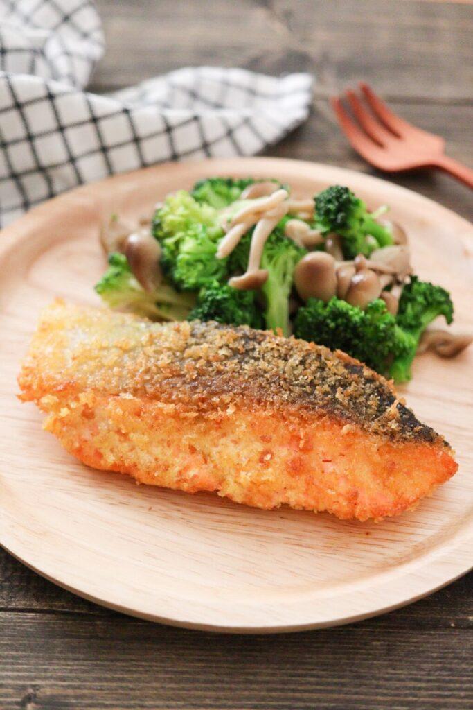 鮭 カレー粉 パン粉焼き マヨネーズ不使用