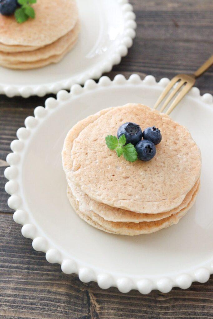オートミール パンケーキ 卵なし バナナなし 小麦粉なし