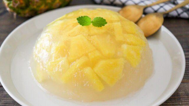 パイナップル 寒天 ケーキ レシピ