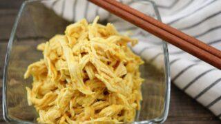 卵なし 錦糸卵代用 蒸し鶏