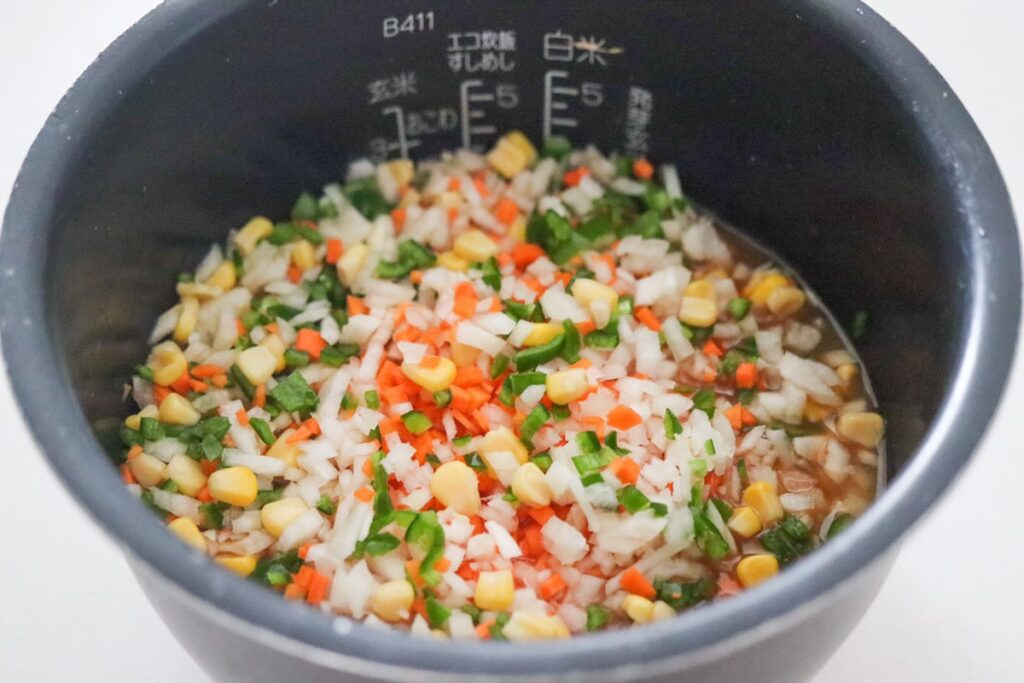 野菜たっぷり 炊き込みご飯