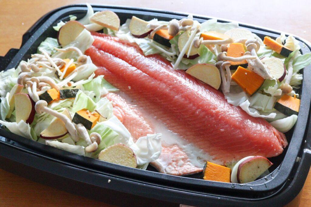 鮭 ホットプレート ちゃんちゃん焼き レシピ
