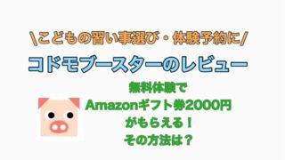 コドモブースター Amazon ギフト券 プレゼント